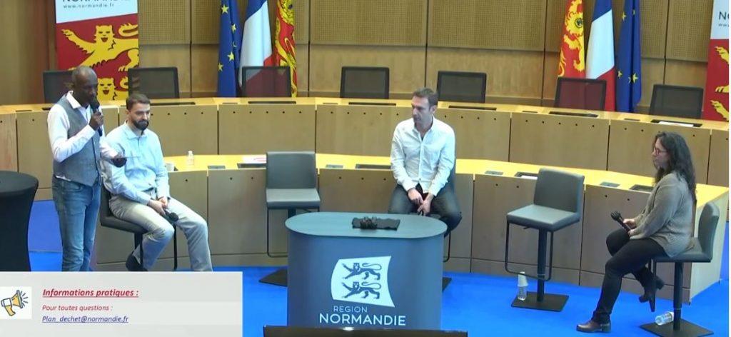 Christophe Deboffe témoigne des projets Sédimatériaux au colloque de Normandie